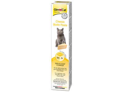 GimCat Cheese Biotin Pasta - Aanvullend kattenvoer / kattensnack voor een gezonde vacht - kaas - 50g, 100g, 200g