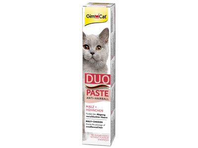 GimCat Duo Pasta Anti-Hairball - Aanvullend kattenvoer / kattensnack met anti-haarbal formule - kip en kaas - 50g