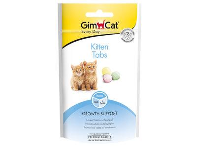 GimCat Kitten Tabs  - Aanvullend kattenvoer / kattensnack voor kittens met vitaminen en calcium - 40g