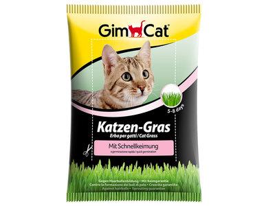 GimCat Kattengras Snelkiemzakje - Aanvullend kattenvoer / anti-haarbal kattengras - 100g