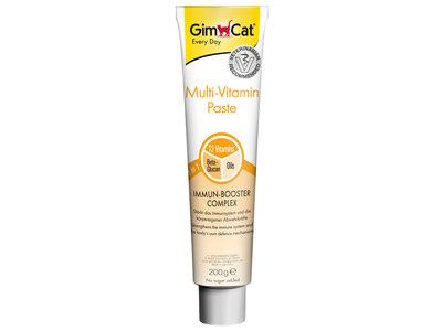 GimCat Multi-Vitaminepasta - Aanvullend kattenvoer / kattensnack met 12 vitaminen - 50gr, 100gr, 200gr