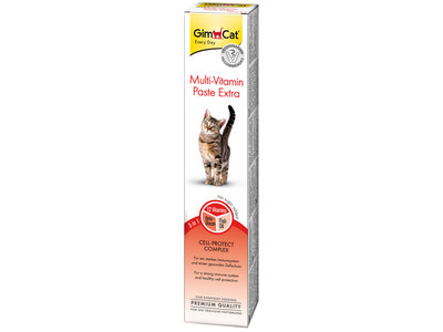 GimCat Multi-Vitaminepasta Extra - Aanvullend kattenvoer / kattensnack met 12 vitaminen - 50gr, 100gr, 200gr