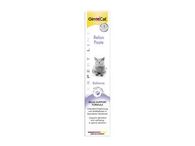 GimCat Relax Pasta - Aanvullend kattenvoer / kattensnack voor rust in stresssituaties - 50gr