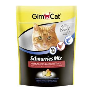 GimCat Schnurries Mix - Hartvormige kattensnack met lekkere ingrediënten