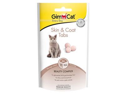 GimCat Skin & Coat Tabs - Aanvullend kattenvoer / kattensnack voor een gezonde vacht en sterke nagels - 40g