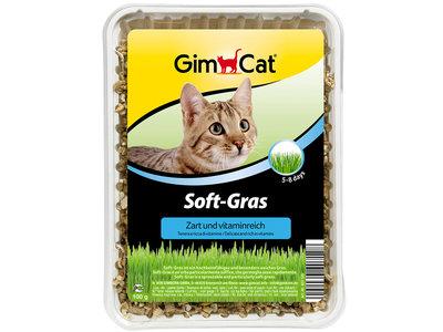 GimCat Soft Gras - Aanvullend kattenvoer / anti-haarbal kattengras - 100g