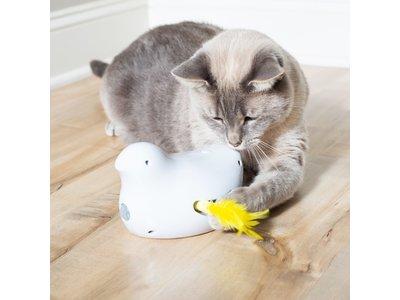 Automatisch kattenspeelgoed met Veertjes met automatische inschakeling en bewegingssensor - Frolicat Peek-a-Bird