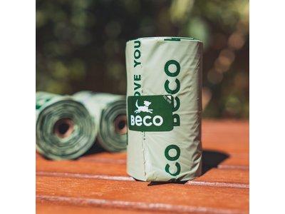 Beco Bags Compostable - Composteerbare hondenpoepzakjes op rol - Ongeparfumeerd - Groot en Sterk - 48 of 96 Stuks - 4 of 8 rollen van 12 zakjes