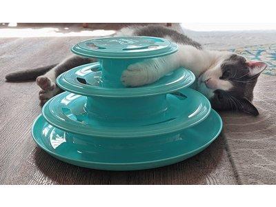 Doc & Phoebe's Forever Fun Treat Track - Interactief snackspeelgoed voor katten - Met laser en snacks - Stimuleert het jachtinstinct van je kat - Kattenspeelgoed voor katten met veel energie