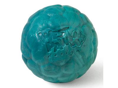 West Paw Boz Zogoflex Air - Zachte en sterke speelbal voor honden met Zogoflex Air - Blijft drijven - Roze / geel / turquoise - Small / large