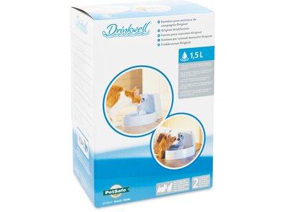 PetSafe Drinkwell® Original Pet Fountain - Drinkfontein voor katten en kleine honden - Met vrijvallende waterstroom - 1,5 liter