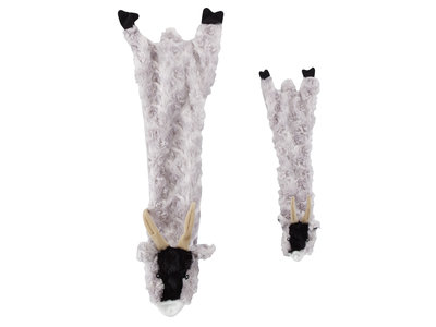 Skinneeez Plush Goat - vrij van pluche vulling - met pieper