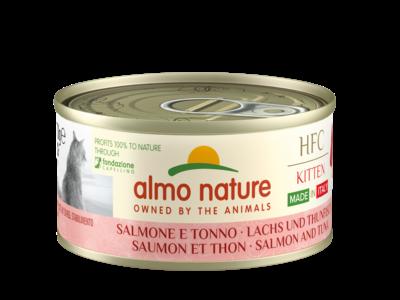 Almo Nature - HFC Complete Kitten - Made in Italy - Zalm en tonijn - 24x70g