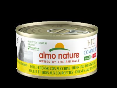 Almo Nature - HFC Complete Adult - Made in Italy - Kip en tonijn met courgette &  Zalm en tonijn met wortel - 24x70g