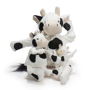 HuggleHounds Dottie Cow Knottie - Hondenknuffel - XS/S/L