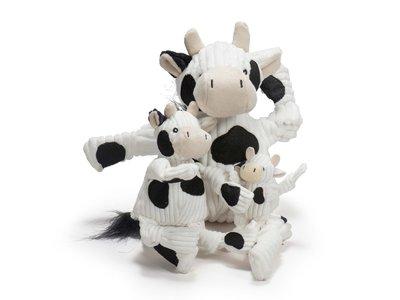 HuggleHounds - Dottie Cow Knottie™ – Hondenknuffel - Sterke Knuffel met Tuffut Technology® - Machine wasbaar - XS/S/L