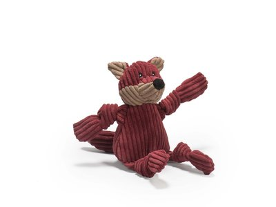 HuggleHounds Sly Fox Knottie™ – Hondenspeelgoed Vos – XS/S/L – Hondenknuffel met Tuffut Technology® - Machine wasbaar