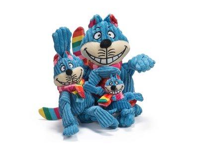 HuggleHounds Rainbow Cheshire Cat Knottie™– Sterke Hondenknuffel met Tuffut Technology® - Machine wasbaar - XS/S/L