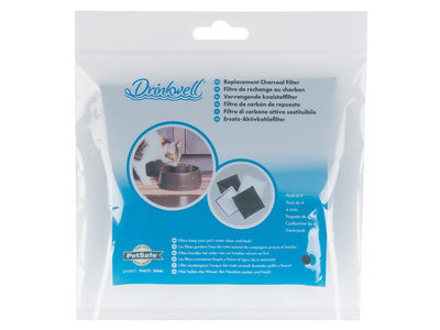 Drinkwell® Current Replacement Charcoal Filter (4-Pack)