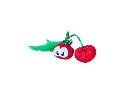 Petstages Dental Cherries - Gebitsverzorgend speelgoed voor katten - Verbetert de mondhygiëne -  Bevat Catnip - Kattenkruid