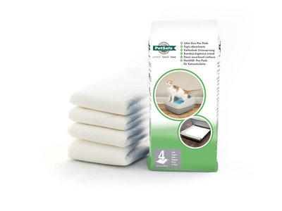 PetSafe® Replacement Pee Pads - Wegwerp plaskussens - Inhoud 4 stuks - Geschikt voor het PetSafe® Deluxe Crystal Kattenbaksysteem - Scoopfree