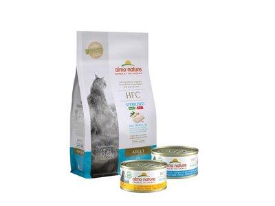 Almo Nature HFC Maandpakket - HFC Droogvoer Kabeljauw 1,2 kg + 24x HFC Natvoer Tonijn 70g + 24x HFC Natvoer Kipfilet 70g