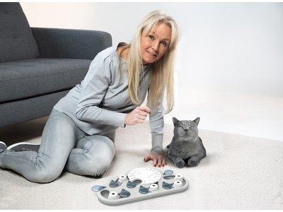Petstages Rainy Day  Kattenpuzzel vulbaar met snacks - Level 3 Gevorderd - Nina Ottosson puzzelspeelgoed voor slimme katten