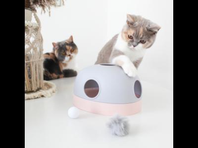 MS! Hola Cat Toy - 3-in-1 Interactief Kattenspeelgoed - Stimuleert het jachtinstinct – in 3 kleuren combinaties