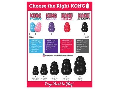 Extra sterk hondenspeelgoed - Onverwoestbaar voor hardnekkige kauwers - Kong Extreme -  Zwart in S/M/L/XL