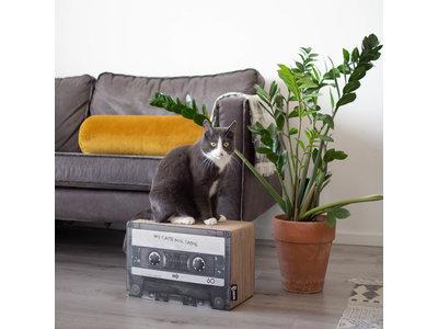 Trendy Retro Krabmeubel van  duurzaam karton - District 70 Mixtape - Omkeerbaar in Zwart of Emerald - 38x20x25cm