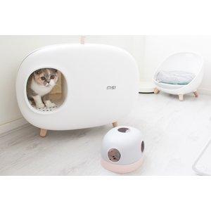MS! MS! Design Kattenbak - In 4 kleuren: Wit, Groen, Roze en Mosgroen  - Makkelijk schoon te maken  - Met Uitlooprooster - Inclusief Grindschepje - 60 x 38 x 45 cm