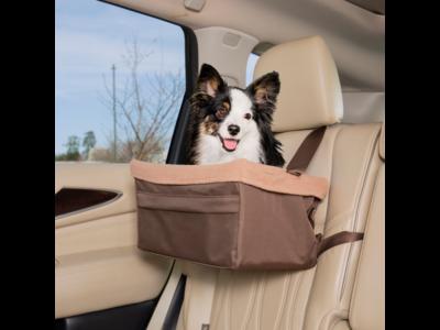PetSafe Happy Ride™ Booster Seat - Autostoel voor kleine honden - Zitverhoger voor in de auto - Verkrijgbaar in 3 maten - Kleur bruin
