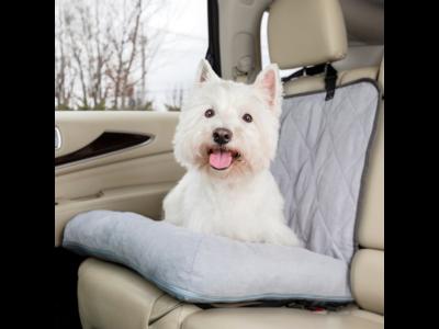 PetSafe Happy Ride™ Car Dog Bed - Hondenbed voor in de auto - Kleur Grijs - Afmetingen 102x58x13cm