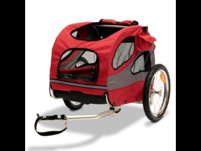 PetSafe Happy Ride™ Aluminium Dog Bicycle Trailer - Hondenfietskar - Lichtgewicht - Medium in de kleur Rood - Large in de kleur Blauw