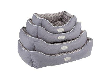 Luxe  Zachte en Warme Hondenmand met anti-slip onderzijde - Scruffs Wilton - In Zwart, Grijs of Bruin in S/M/L/XL