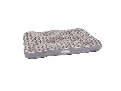 Scruffs Wilton Hondenmatras - Zacht Pluche Hondenbed met Anti-Slip Onderzijde - Grijs - Maat L 100 x 70cm