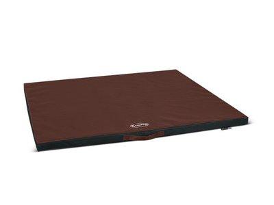 Scruffs Expedition Mat - Vuil- & waterafstotend outdoor matras voor honden  - Voor binnen en buiten - Bruin of grijs - XS / S / M / L / XL