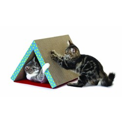 Krabtunnel van Karton voor Katten