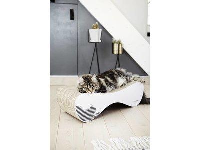 myKotty Trendy Kat Krabmeubel in Wit en Zwart