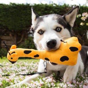 Sterke Honden Knuffel Giraffe van Pluche in S/M/L