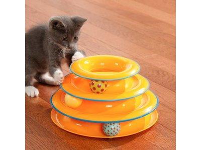 Speelgoed voor Katten met veel Energie - Petstages - Piramidevormig speelgoed met balletjes en anti-slip noppen