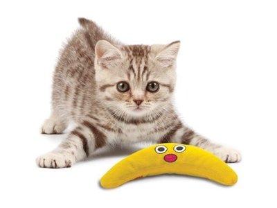 Kattenspeelgoed gevuld met Kattenkruid in de vorm van een Banaan - PetStages