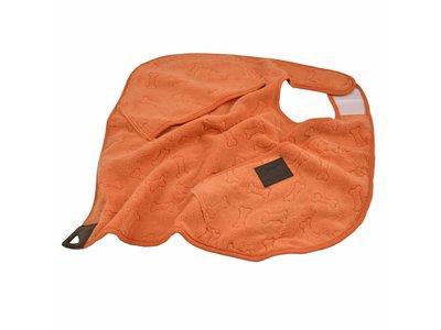 Greenfields Cape Towel - Badjas van microvezel voor honden - Om je hond snel af te drogen - Oranje - 50x50cm
