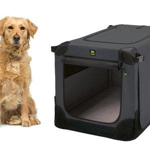 Maelson Soft Kennel - Opvouwbare hondenbench van zacht materiaal, zwart/antraciet
