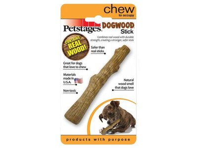 Duurzame Houten Kauwstok voor Honden - Petstages - Verkrijgbaar in 4 maten: Extra Small (10cm); Small (12,7cm); Medium (18,4cm) en Large (20cm)