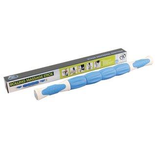 FITNESS MAD Rolling Massage Stick 46cm Trigger point 4 onafhankelijke massage rollen Blauw