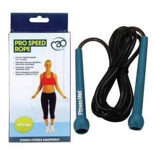 FITNESS MAD Studio Pro Speed Rope 9ft Springtouw 274 cm (lichaamslengte 164-178 cm) Blauw