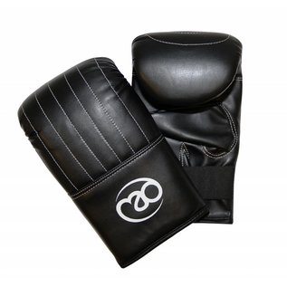 FITNESS MAD Synthetic Leather Bag Mitt size S (Small) Black