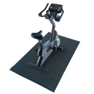 FITNESS MAD Protectie Mat 90 x 150 x 0.6 cm (2kg) vloerprotectie ideaal voor home trainers Zwart