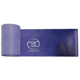 FITNESS MAD Resistance Band Roll Studio 15 meter x 15 cm Level 2 Medium Latex Blue